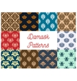 Vintage damask tracery seamless pattern background vector image