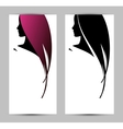 banner template with female profile vector image vector image