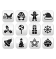 Christmas celebration winter buttons set vector image vector image