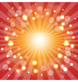 Red Sunburst With Stars vector image vector image