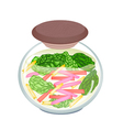Pickled Ruby Red Chard in A Jar vector image vector image