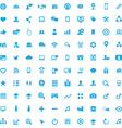 100 social media icons vector image