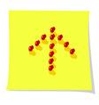 arrow with pins vector image vector image