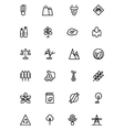 Ecology Line Icons 3 vector image