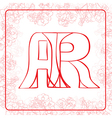 AR monogram vector image