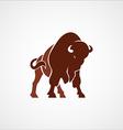 bison buffalo logo badge emblem sign isolated vector image