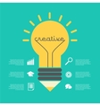 Creative idea with lamp vector image