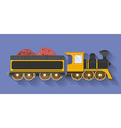 Icon of Steam Locomotive or Puffer with the wagon vector image