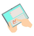 touch tablet icon isometric 3d style vector image