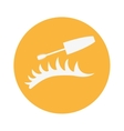 woman eyelash icon vector image