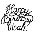 Happy birthday Noah name lettering vector image
