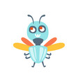 cute cartoon fly colorful character vector image vector image