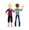 back view portrait of boys men best friends vector image vector image