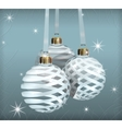 transparent christmas balls vector image vector image