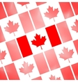 National Flag of Canada Day Abstract dotted vector image