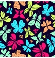Butterflies Pattern Color vector image