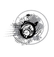 black and white clock vector image