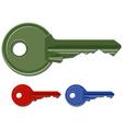 Door keys vector image