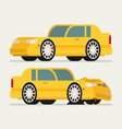 flat car vehicle before and after car crash road vector image