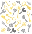 Golden and Silver Key Background Pattern vector image
