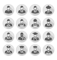 profession icon with long shadow vector image