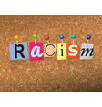 Racism Concept vector image