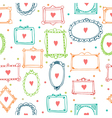 Romantic seamless pattern with colorful frames and vector image