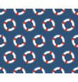Seamless sea pattern White lifebuoy on blue vector image