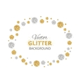 Shiny background with golden and silver glitter vector image