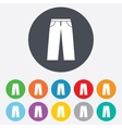 Mens jeans or pants sign icon Clothing symbol vector image