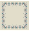 Ornamental doodling floral frame vector image