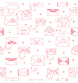 Romantic seamless pattern Cute background vector image