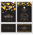 Set of Love Cards with Gold Glitter vector image vector image