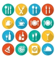 Colorful restaurant icons set vector image