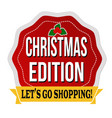 christmas edition sticker or label vector image