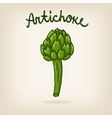 cute hand drawn shiny artichoke vector image