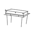icon furniture vector image vector image