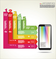 Infographic design background vector image vector image