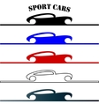 sport cars hand drawn logo vector image
