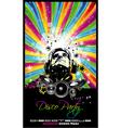 music disco flyer vector image