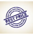 stamp for best price vector image vector image