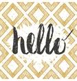 Handwritten inscription Hello vector image