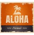 aloha word in vintage colors retro vector image