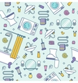 Bath equipment colorful seamless pattern vector image