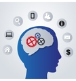 Business icons in my mind - vector image