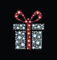 Diamond gift box vector image