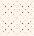 geometric seamless pattern with tiny diamond vector image