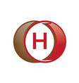 h letter circle logo vector image