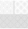 Light seamless damask pattern vector image