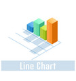 line chart icon symbol vector image